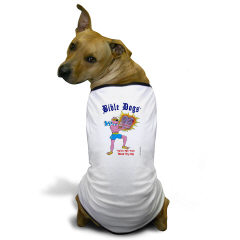 Cute BIBLE DOGS Gifts, including this colorful doggie t-shirt