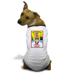CRIME BUSTER (American Cowboy) - Very Cute Doggie T-shirt (He came to save America!!)