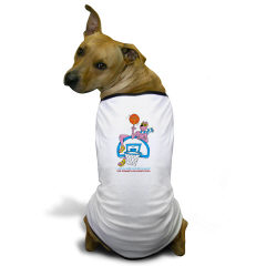 Sabra Dog  -  Basketball (Menorah) - Cute Jewish Doggie T-shirts