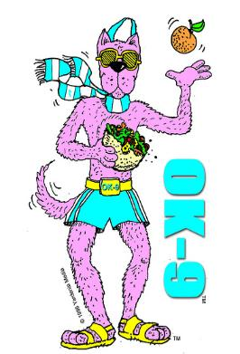'OK-9' - Colorful, exciting cartoon character - Author of