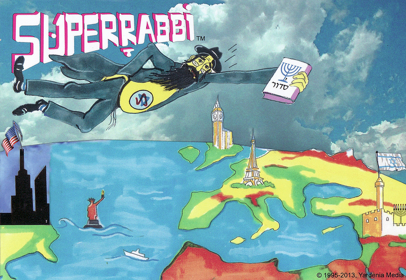SUPERRABBI (SUPER RABBI) - A New Jewish/Israeli Super Hero (Superheroes) - Super Jews.